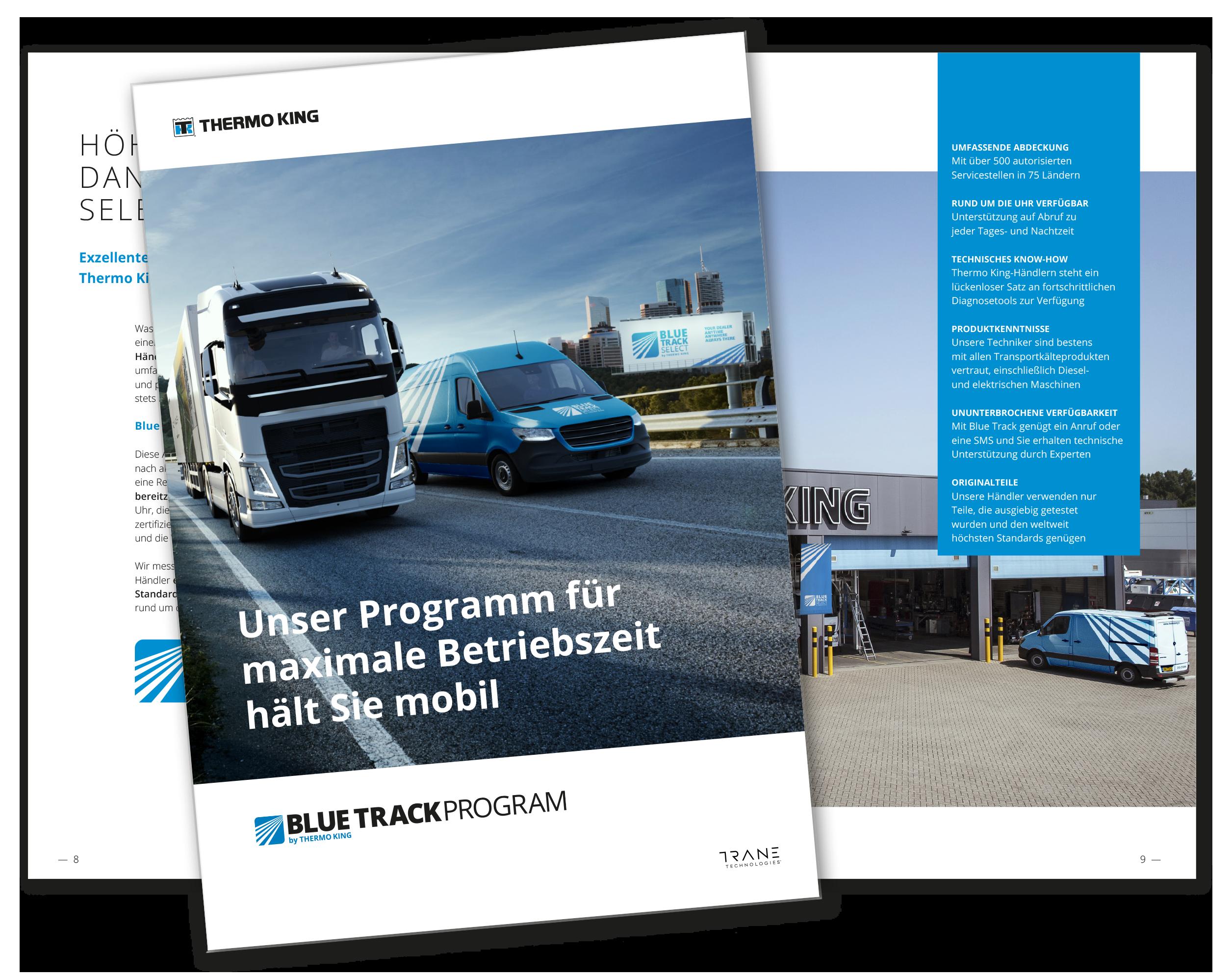 Blue Track Service Händler Prospekt